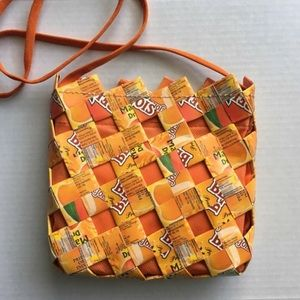 Orange Bejois Mango Juice Recycled Upcycled Purse